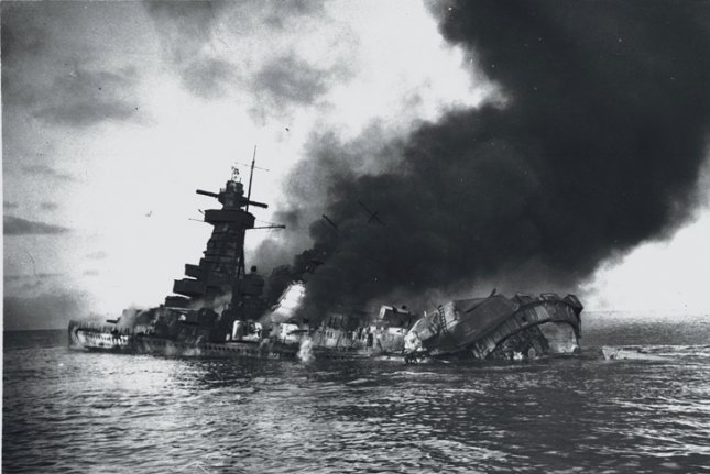 On December 17, 1939, the Nazi warship Graf Spee was scuttled off the coast of Uruguay as British vessels pursued it after the Battle of the River Plate. File Photo courtesy of the York Space Institutional Respository
