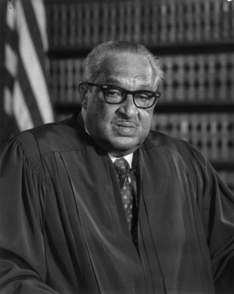 On January 24, 1993, retired U.S. Supreme Court Justice Thurgood Marshall, the first African American to serve on the nation's highest court, died at age 84. File Photo courtesy Library of Congress