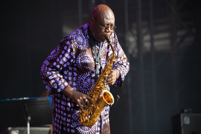 Jazz musician Manu Dibango performs at the Les Escales Festival in Saint-Nazaire, France on July 26. Dibango has died at the age of 86. Photo by Selbymay/Wikimedia Commons