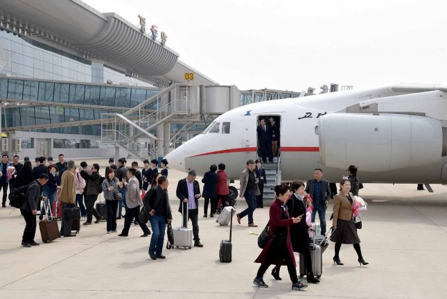 North Korea's national airline could be planning to resume flights to China, according to a South Korean press report. File Photo by Yonhap News Agency/UPI