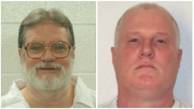 Monday's scheduled lethal injections of Bruce Ward (L) and Don Davis (R) were stayed by the Arkansas Supreme Court. Courtesy Arkansas Department of Corrections