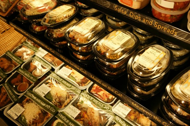 Pre-packaged meals are seen on sale at Whole Foods. Amazon's most popular Whole Food's items sold in its first month were coconut water and deli turkey breast. File Photo courtesy Whole Foods