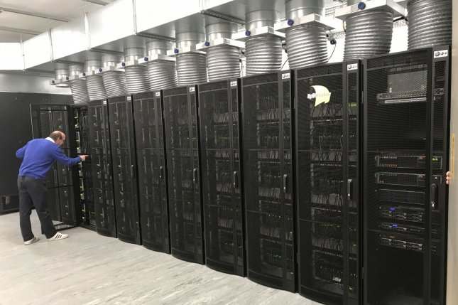 A new supercomputer capable of mimicking the human brain went online last week at the University of Manchester in Britain. Photo courtesy of The University of Manchester, School of Computer Science