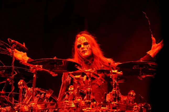 Joey Jordison performs with Slipknot at the Rock on the Range Festival in Columbus, Ohio, on May 16, 2009.Former drummer and founding member Joey Jordison has died at the age of 46.Photo by Steve C. Mitchell/EPA-EFE