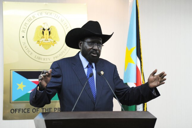 President of South Sudan Salva Kiir Mayardit, pictured in this UN file photo, announced on January 1, 2014 a state of emergency in South Sudan as government forces and rebels continue to fight while peace negotiations are set to begin in Ethiopia. (UPI/UN/Isaac Billy)