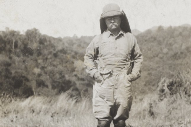 Former president Theodore Roosevelt during his Smithsonian–Roosevelt African Expedition in March 1933. File Photo by Library of Congress/UPI