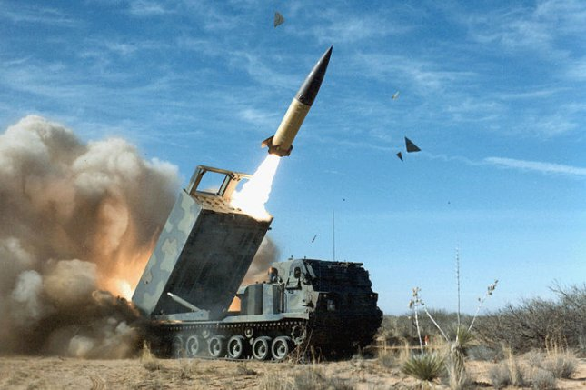 The U.S. Army Tactical Missile System includes a long-range, guided missile packaged in a multiple launch rocket system look-alike launch pod, and is fired from the MLRS family of launchers. Photo courtesy of the U.S. Army