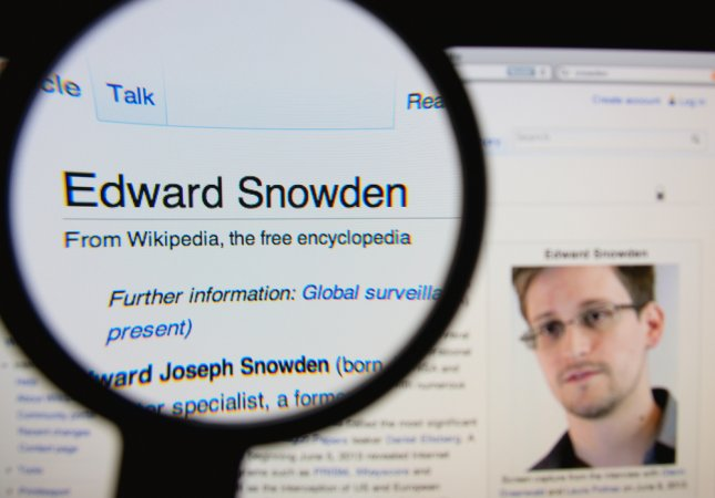 Edward Snowden has helped co-design a surveillance-evading case for your iPhone and othe smartphones. He hopes to have a prototype in the coming months. Photo by Gil C / Shutterstock
