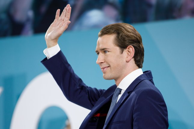 Sebastian Kurz, leader of the Austrian People's Party, is poised to regain his former position as Austria's chancellor after his party secured 37 percent of Sunday's parliamentary election vote, well about second-place Social Democrats who garnered 21 percent. Photo by Florian Wieser/EPA-EFE