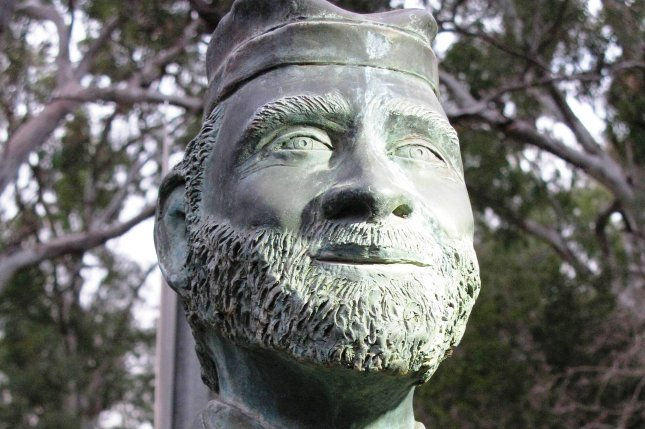 A bust of 19th century Australian cricketer Johnny Mullagh is seen at a park inCootamundra, Australia. File Photo byDoug Butler/Wikimedia Commons