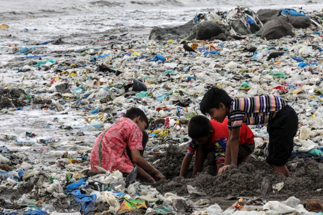 In addition to being a main source of pollution, many plastics contain chemicals that are potentially harmful to people and the environment, a new study has found. File Photo by Divyakant Solanki/EPA-EFE