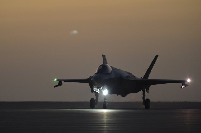 A U.S. Air Force F-35A Lightning II assigned to the 4th Expeditionary Fighter Squadron taxis down the flightline before taking off from Al Dhafra Air Base, United Arab Emirates, April 24, 2019. Lockheed Martin on Wednesday signed a contract to provide modifications and tooling on the aircraft. Photo by Staff Sgt. Chris Drzazgowski/U.S. Air Force