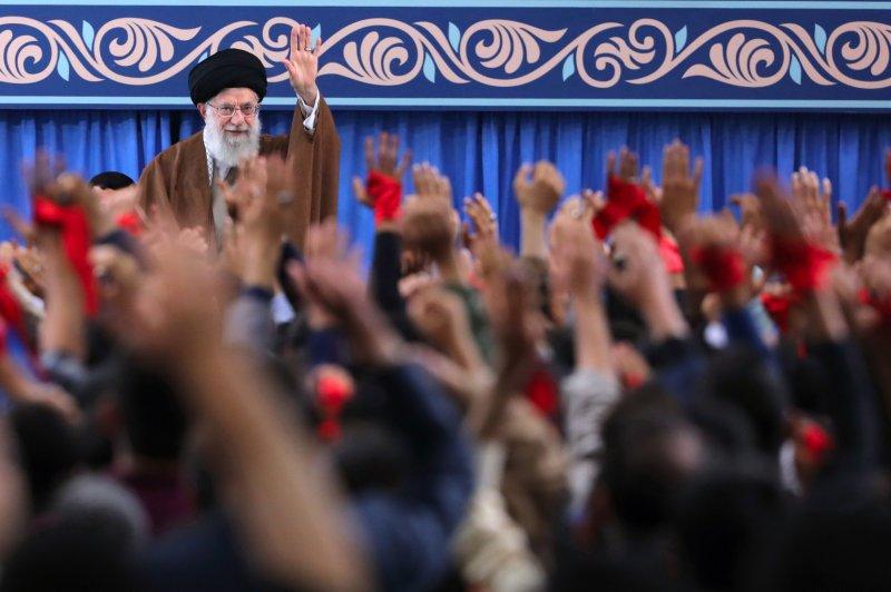 The Iranian parliament voted overwhelmingly to label U.S. CENTCOM a terrorist group Tuesday. Photo provided by Khamenei office/EPA-EFE