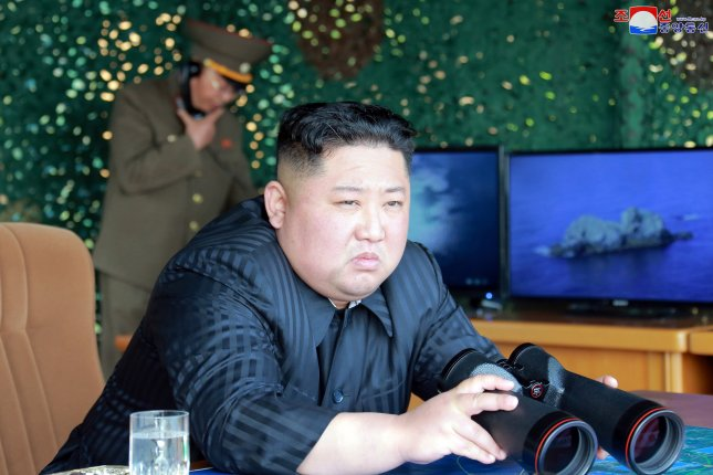 Kim Jong Un is the defendant in a South Korean lawsuit filed by a former prisoner of war. File Photo by KCNA/EPA-EFE