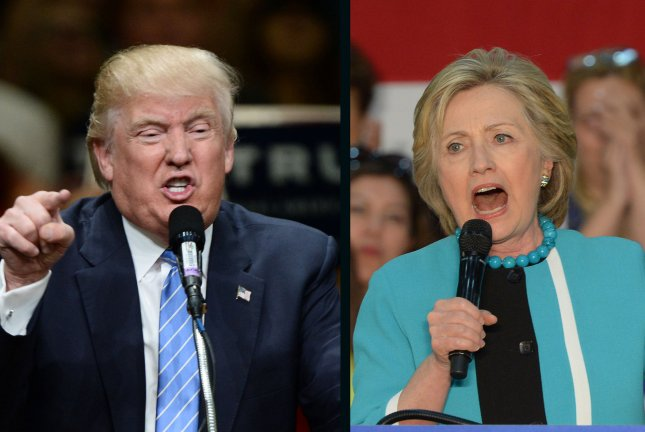 Donald Trump and Hillary Clinton traded accusations of bigotry on the campaign trail, with each charging the other has mistreated minorities. UPI file photos
