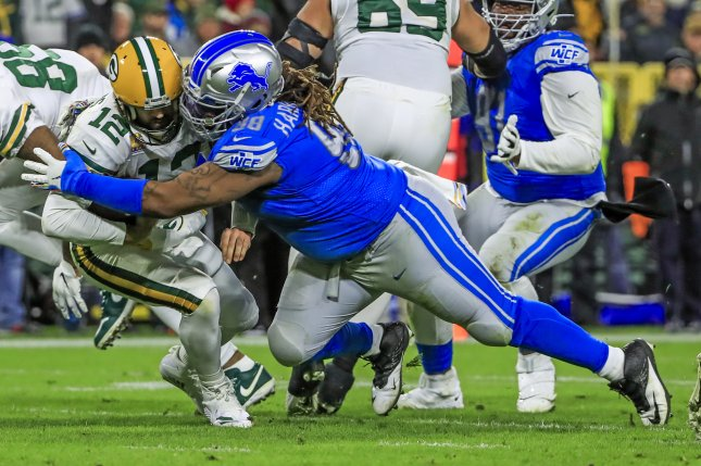 Detroit Lions defensive tackle Damon Harrison (98) had 49 total tackles and two sacks last season. File Photo by Tannen Maury/EPA-EFE