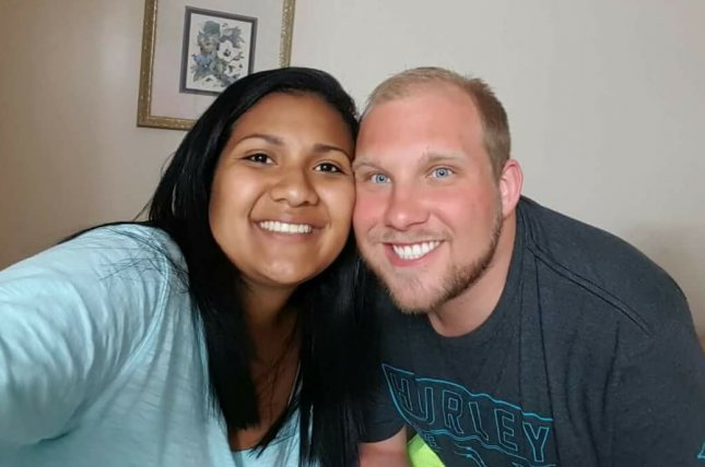 Thamara Caleno Candelo (L) and Josh Holt (R) are imprisoned in Venezuela on weapons charges. Holt's family said he's battled an intestinal infection for the past three or four months. File Photo by Laurie Holt/Facebook