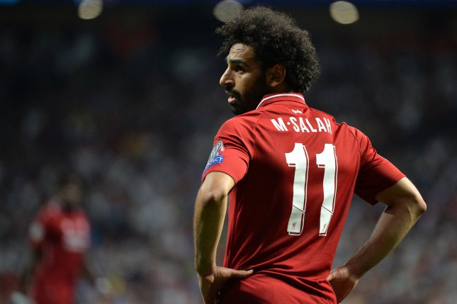 Liverpool star Mohamed Salah scored the first goal in the Reds' Champions League final win against Tottenham Hotspur on Saturday in Madrid. Photo by Peter Powell/EPA-EFE