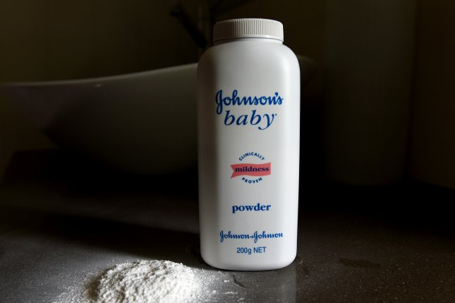Johnson & Johnson and Colgate were ordered to pay $10 million to a California woman who said their talc-based products were responsible for her cancer diagnosis. File Photo by Dan Peled/EPA