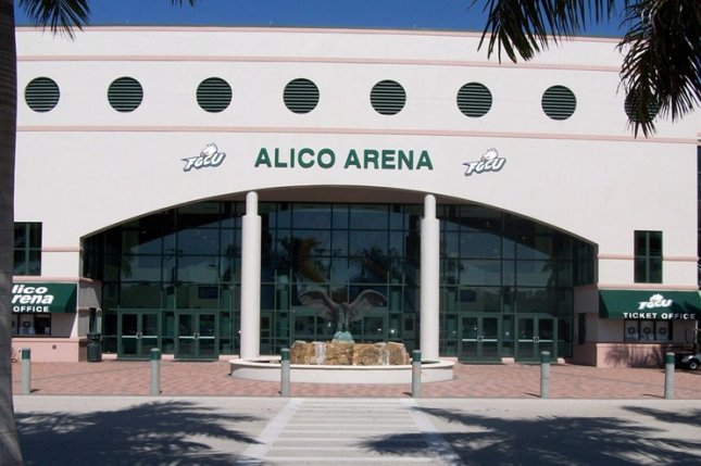 Florida Gulf Coast University, which plays men's basketball games at Alico Arena in Fort Myers, Fla., will not return to the court until Feb. 26 -- a two-week pause in response to a positive COVID-19 test. Photo by Niteshift36/Wikimedia Commons