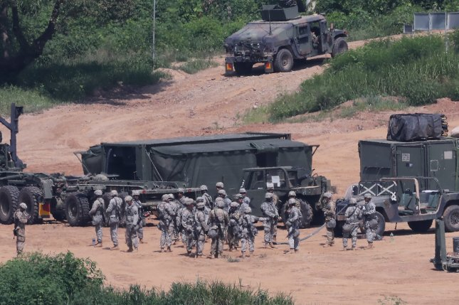 North Korea on Monday condemned U.S-South Korea plans for August military exercises. File Photo by Yonhap/UPI