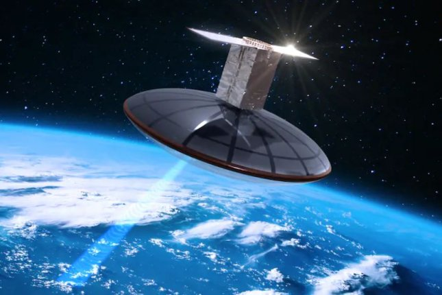 An illustration shows a small weather radar satellite planned by Boston-based ClimaCell in orbit. Image courtesy of ClimaCell