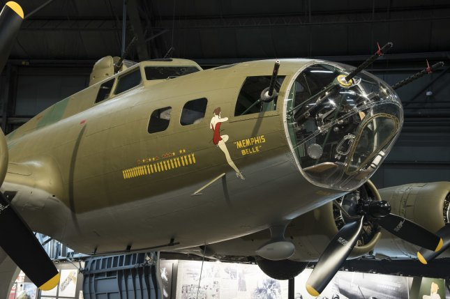 Boeing B-17F Memphis Belle is on display in the WWII Gallery at the National Museum of the United States Air Force. Photo by Ken LaRock/U.S. Air Force