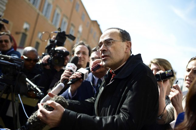 French Cardinal Philippe Barbarin received a six-month suspended sentence Thursday for covering up sexual abuse. Photo by Guido Montani/EPA-EFE