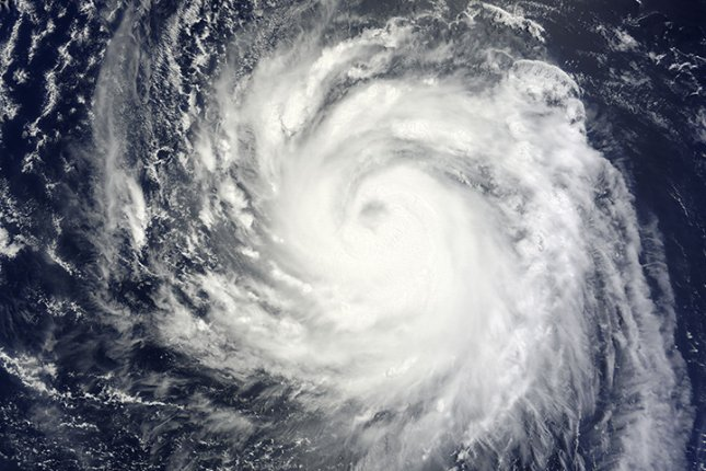 Researchers have developed new models -- based on evidence of 3,000 years of storms hitting the Marshall Islands -- that could help predict the path and intensity of Pacific Ocean storms such as Typhoon Soulik, seen in a NASA image in 2013. File Photo by NASA/UPI