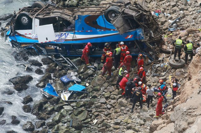 Peru bus crash leaves 25 dead