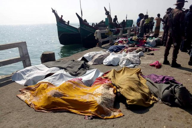 At least 15 people died when a small wooden boat carrying more than 100 Rohingya migrants traveling from Bangladesh to Malaysia capsized and sank on Tuesday. Photo courtesy EPA-EFE