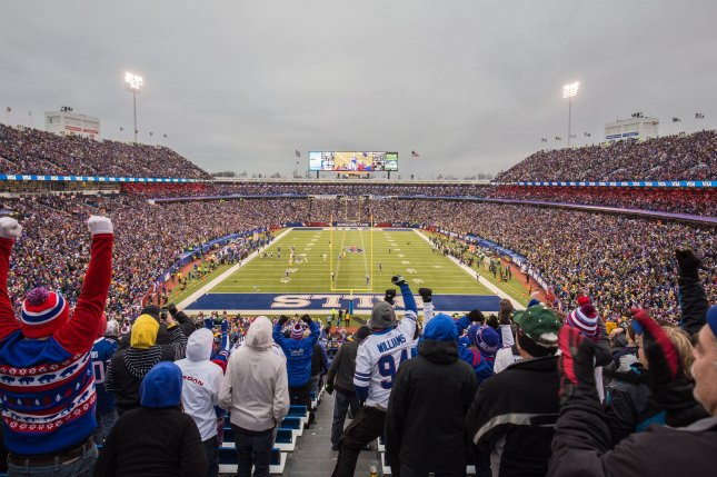 Buffalo Bills fans will be required to show physical or approved digital proof of their COVID-19 vaccinations to attend games this season at Highmark Stadium in Orchard Park, N.Y. Photo by Idibri/Wikimedia Commons
