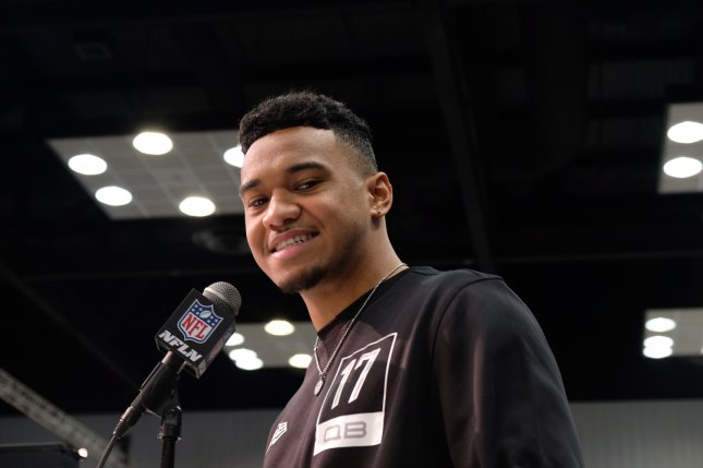 Former Alabama quarterback Tua Tagovailoa dislocated his hip during a Nov. 16 game against Mississippi State, but expects to be ready for Week 1 of the 2020 NFL season. Photo by Alex Butler/UPI