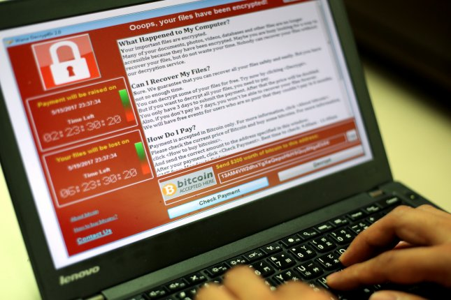 A researcher for the Cybereason cybersecurity company said he found a way to prevent the Petya, also known as NotPetya, ransomware cyberattack from infecting a computer. File Photo by Ritchie B. Tongo/EPA
