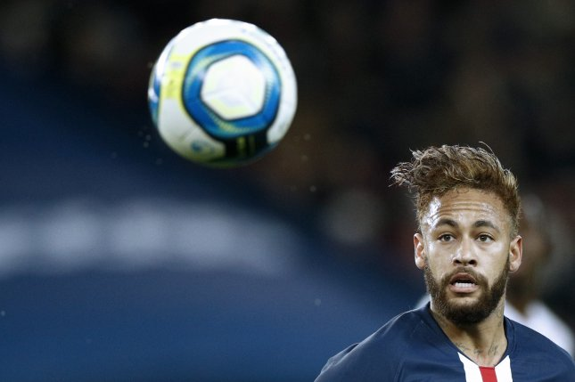 Neymar has four goals in six Ligue 1 games this season for Paris Saint-Germain. Photo by Yoan Valat/EPA-EFE