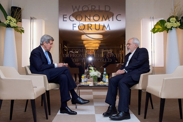 Secretary of State John Kerry, left, and Iranian Foreign Minister Javad Zarif are taking part in negotiations over Iran's nuclear program. Talks have been extended through Thursday, the State Department says. Photo by U.S. State Department/Flickr
