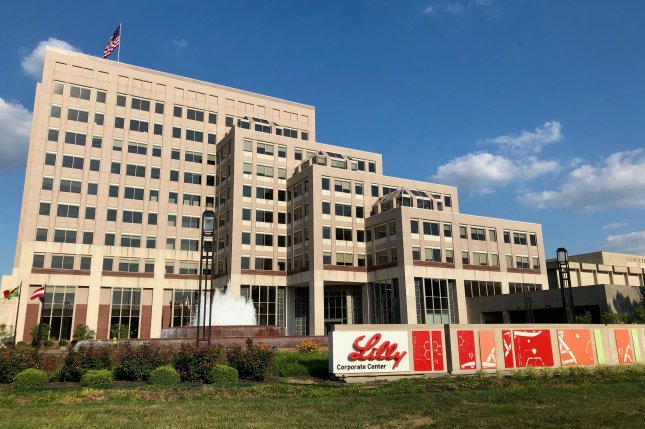 Eli Lilly, headquartered in Indianapolis, says its LY-CoV555 antibody treatment has shown positive results in clinical trials. File photo byMomoneymoproblemz/Wikimedia Commons/UPI