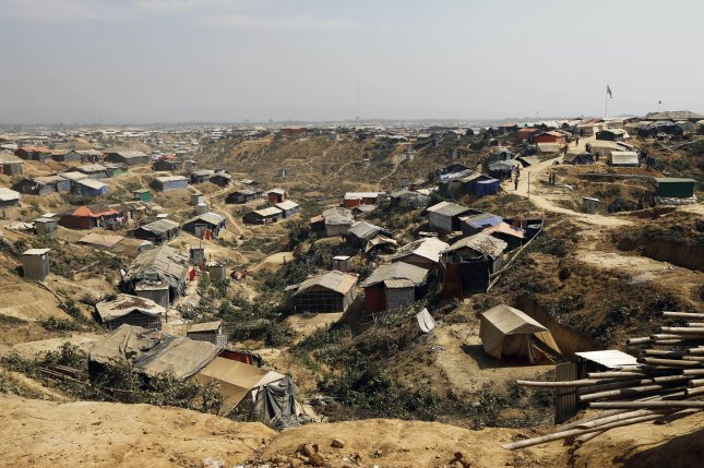 A view of extended camps for recently-arrived Rohingya refugees at Kutupalong in UKhiya, Cox's Bazar, Bangladesh, on Tuesday. Photo by Abir Abdullah/EPA-EFE