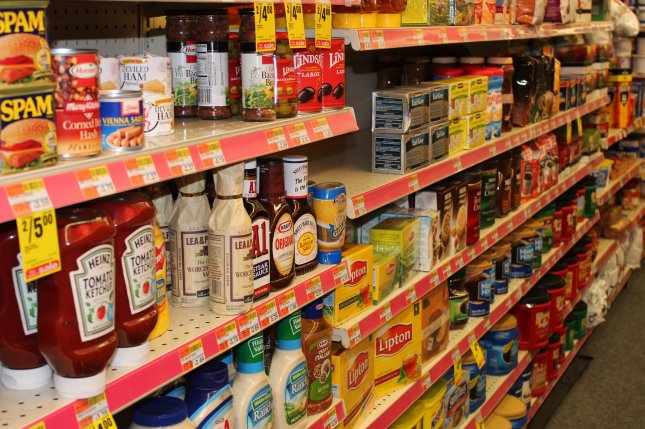 A grocery aisle at a store in Washington, DC. (FileUPI/Billie Jean Shaw)