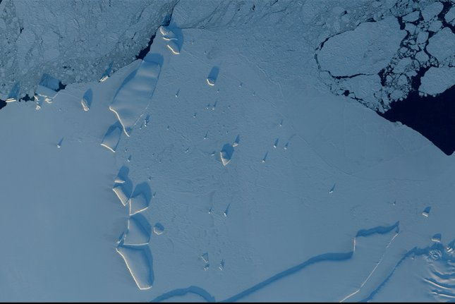 Black carbon deposits may accelerate the melting of sea ice as part of global climate change. File Photo by NASA/UPI