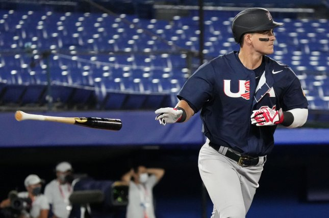 Designated hitter Tyler Austin recorded three hits to help Team USA beat Israel in its first game at the 2020 Summer Games on Friday in Yokohama, Japan. Photo by WBSC