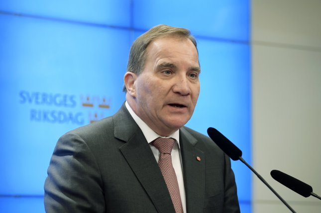If Lofven resigns, the move would require an interim caretaker government for Sweden until the next parliamentary elections in September 2022.File Photo by Anders Wiklund/EPA-EFE