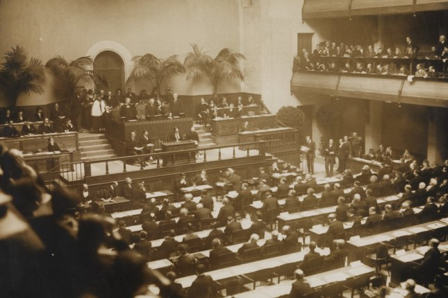 On November 15, 1920, the first assembly of the League of Nations was called to order in Geneva, Switzerland. File Photo by A. Frankl/Wikimedia