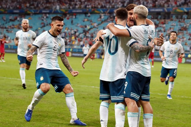 Lionel Messi (10) is attempting to win his first major international trophy with Argentina at the Copa America. Photo by Sebastiao Moreira/EPA-EFE