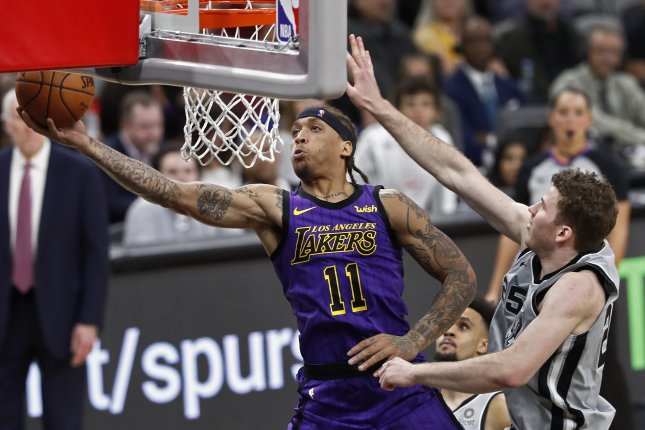 Michael Beasley (L) last played in the NBA during the 2018-19 campaign with the Los Angeles Lakers, averaging seven points and 2.3 rebounds in 26 games. File Photo by Larry W. Smith/EPA-EFE