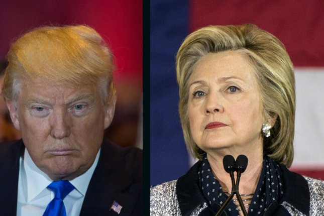 Hillary Clinton maintains a lead over Donald Trump in the UPICVoter tracking poll released Monday. UPI file photos