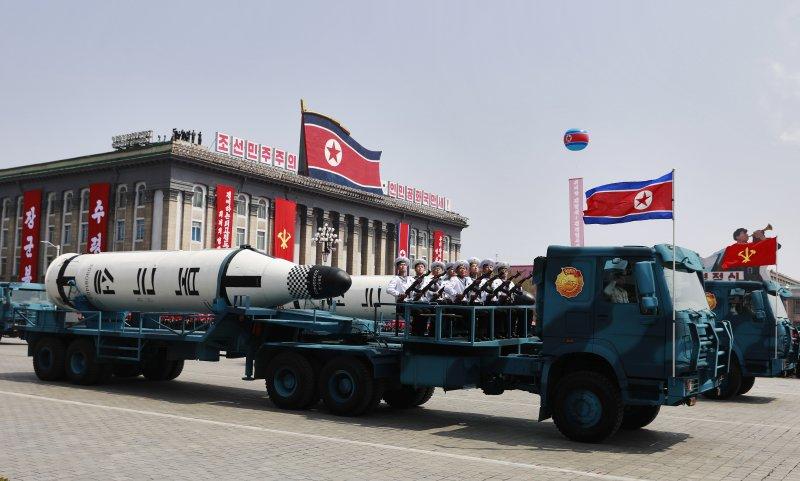 North Koera displays new missiles