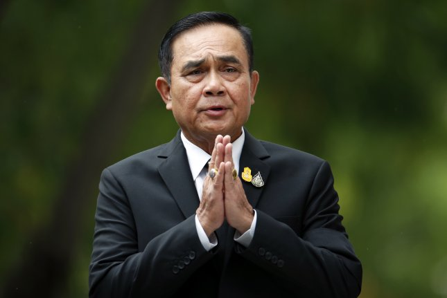 Thai Prime Minister Prayuth Chan-o-cha denied a local media report alleging that Thailand is helping Myanmar's military amid a crackdown against pro-democracy protesters. File Photo by Rungroj Yongrit/EPA-EFE