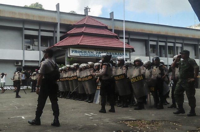 The Indonesian government tighten security in Papua and West Papua province amid continuing unrest that was triggered by accusations that security forces insulted Papuan students in Surabaya, East Java. Photo by Jack Wally/EPA-EFE