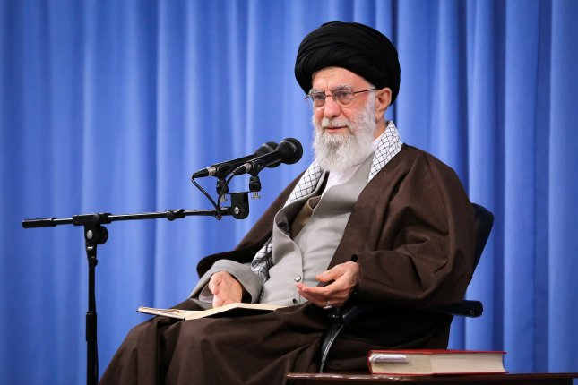 Iranian supreme leader Ayatollah Khamenei condemned fuel protesters as thugs on Sunday as the country limited access to the internet. Photo by EPA